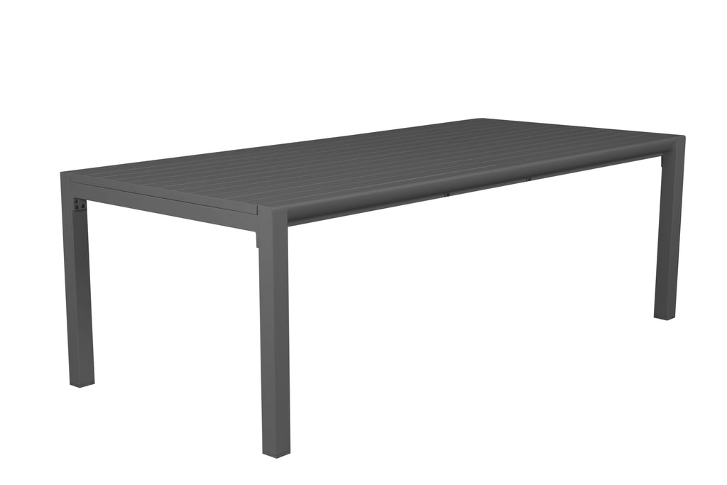 Oslo Aluminium Outdoor Extension Dining Table - Gunmetal - Razzino Furniture