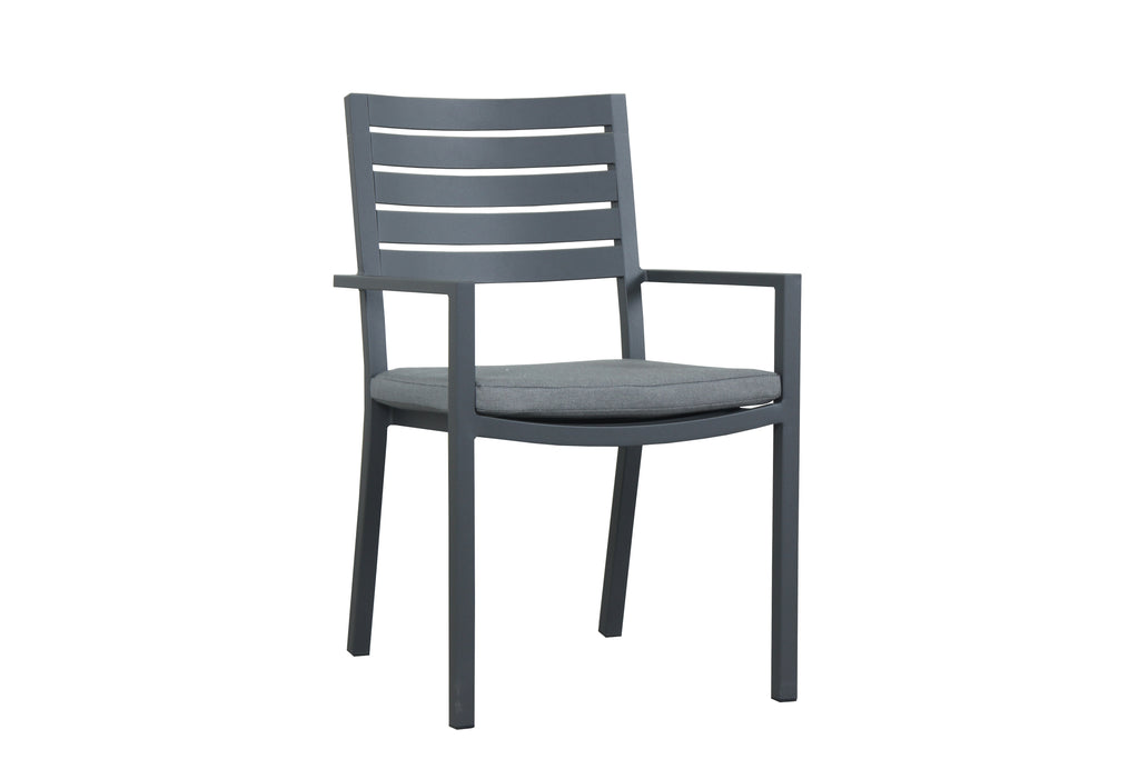 Como Aluminium Outdoor Dining Chair - Gunmetal - Razzino Furniture