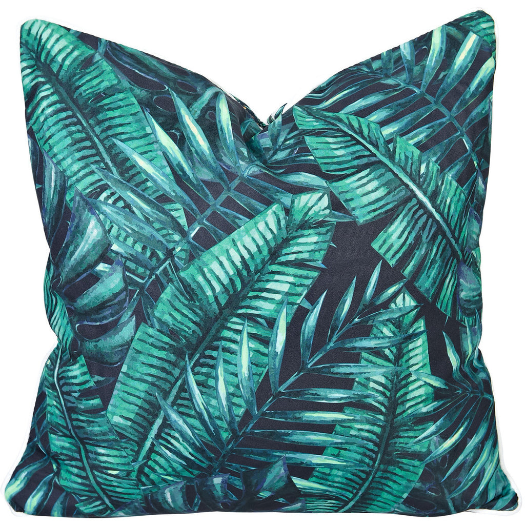 Palm Tree Reverse Tropical Print Outdoor Cushion Razzino