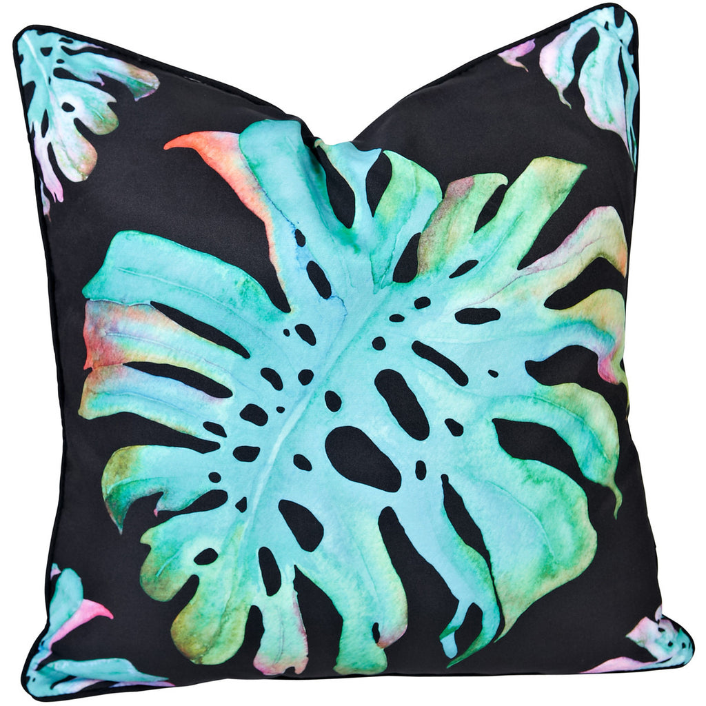 Monstera Watercolour Outdoor Cushion - Razzino Furniture