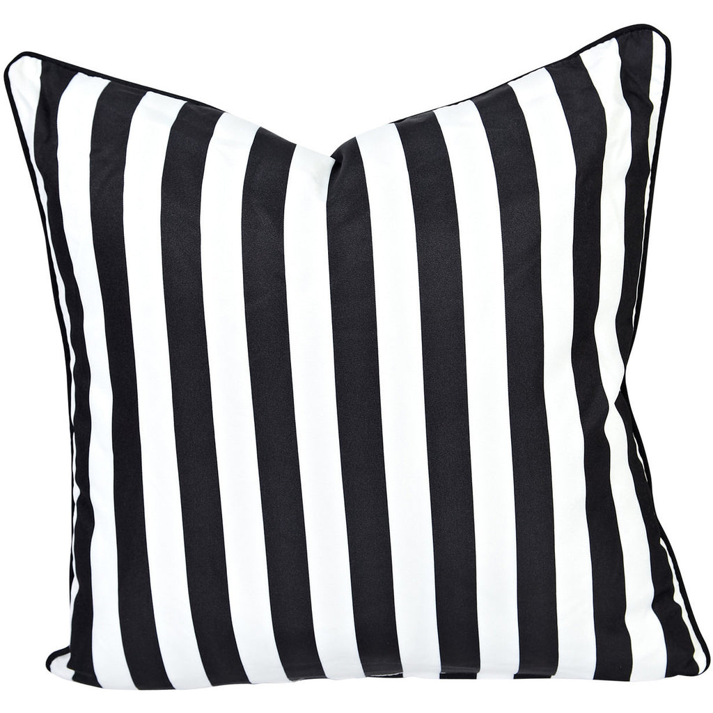 Greek Key Reverse Black U0026 White Stripe Outdoor Cushion   Razzino Furniture  ...