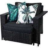 Palm Tree Reverse Tropical Print Outdoor Cushion - Razzino Furniture