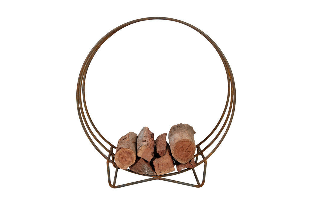 Steel Wood Stack Holder Circle Ring Stand 80cm 100cm 120cm - Razzino Furniture