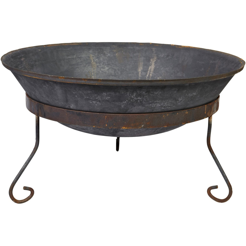 75cm Cast Iron Fire Pit Bowl with Stand - Razzino Furniture