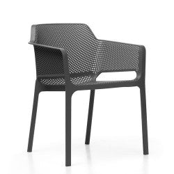 NET PP Outdoor Dining Chair - BLACK - Razzino Furniture