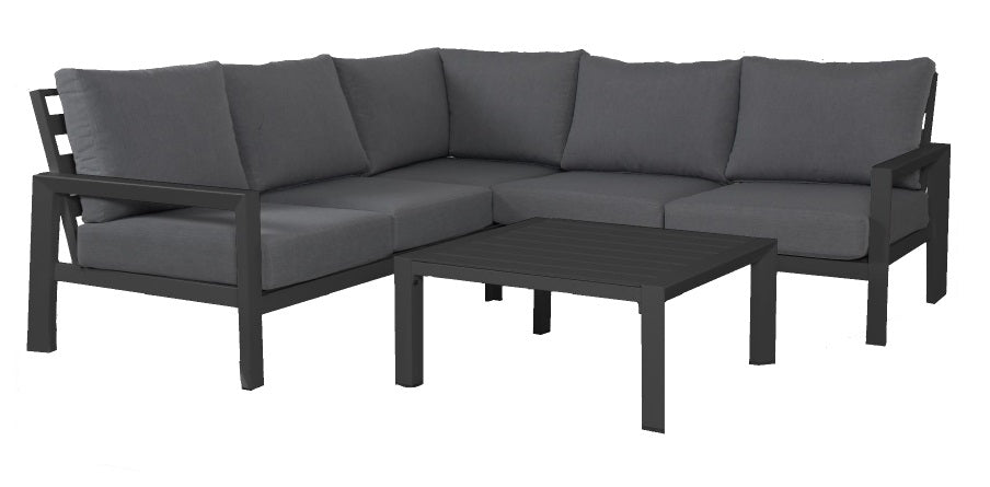 OSLO L Aluminium Outdoor Lounge Set - GUNMETAL