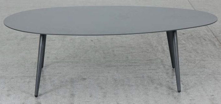 Oblong Aluminium Coffee Table - Gunmetal - Razzino Furniture