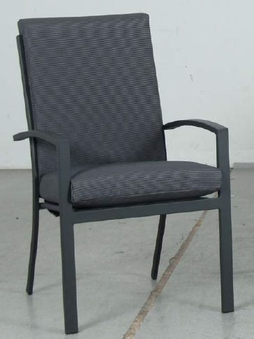 Oslo High Back Outdoor Dining Chair - Gunmetal - Razzino Furniture