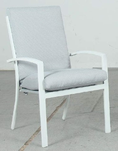 Oslo High Back Outdoor Dining Chair - White - Razzino Furniture