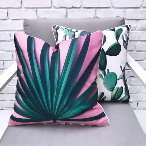 Aztec Reverse Inca Black & White Outdoor Cushion