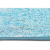 Skandi - Blue Chevron Weave Wool Rug - Razzino Furniture