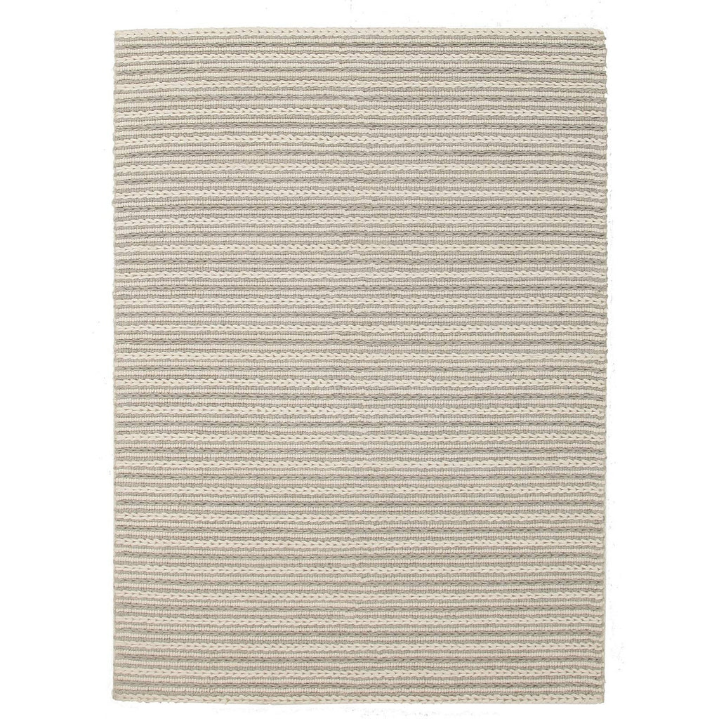 Skandi - Beige & Grey Braid Weave Wool Rug - Razzino Furniture