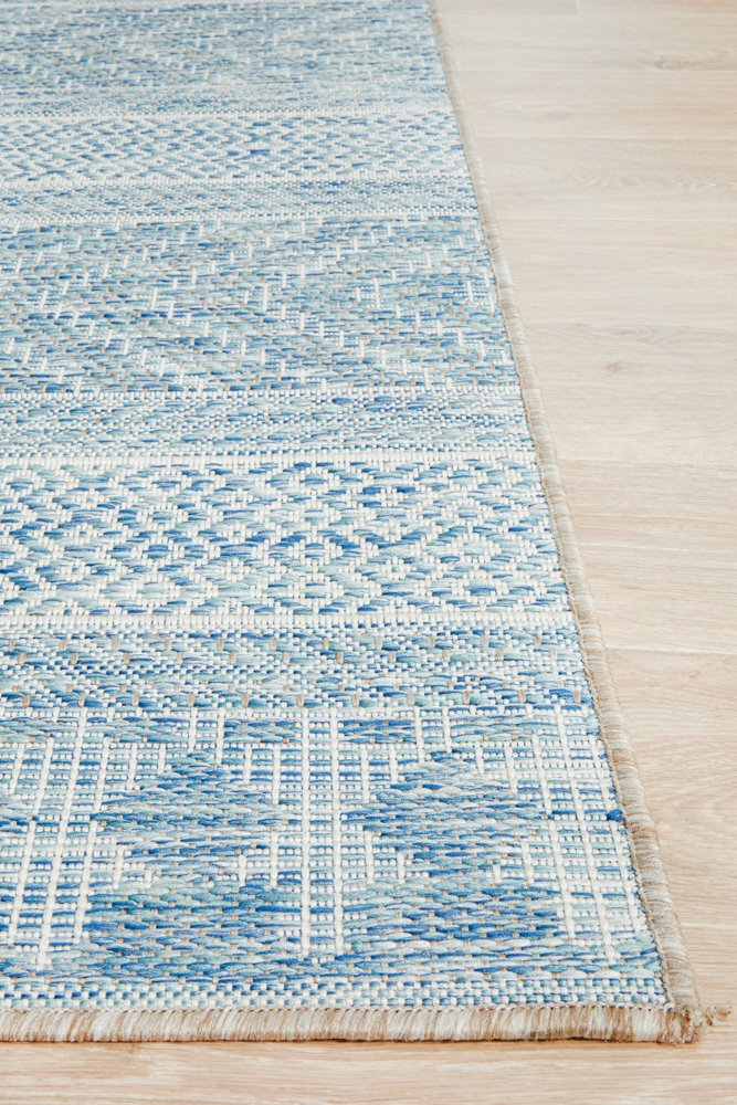 TERRACE Tribal Blue OUTDOOR RUG - Razzino Furniture