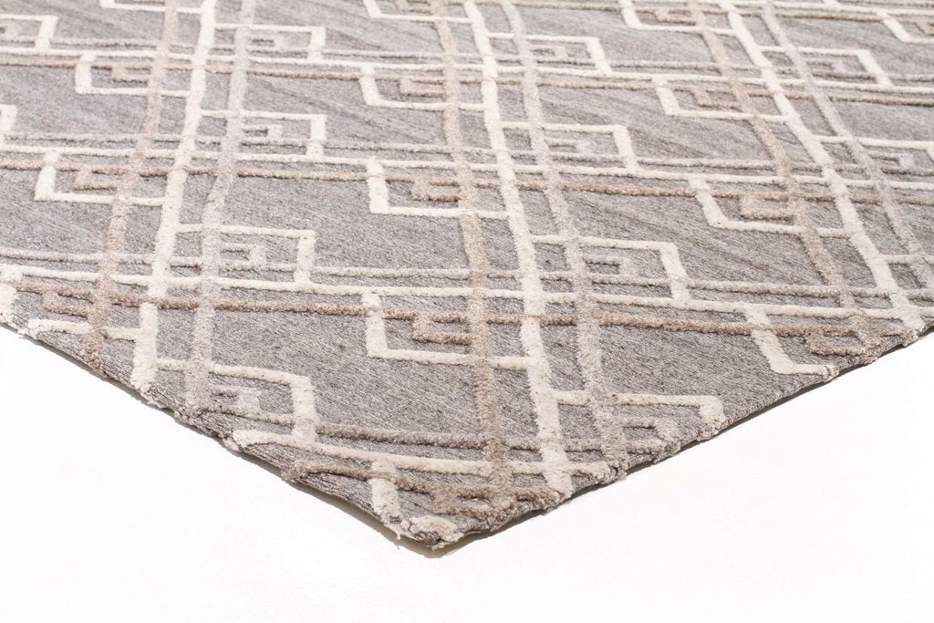 Akello - Natural Grey Gatsby Wool Rug - Razzino Furniture