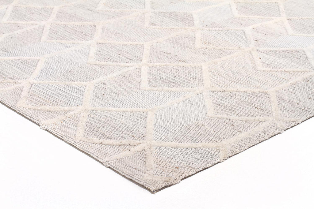 Akello - Natural Grey Crest Wool Rug - Razzino Furniture