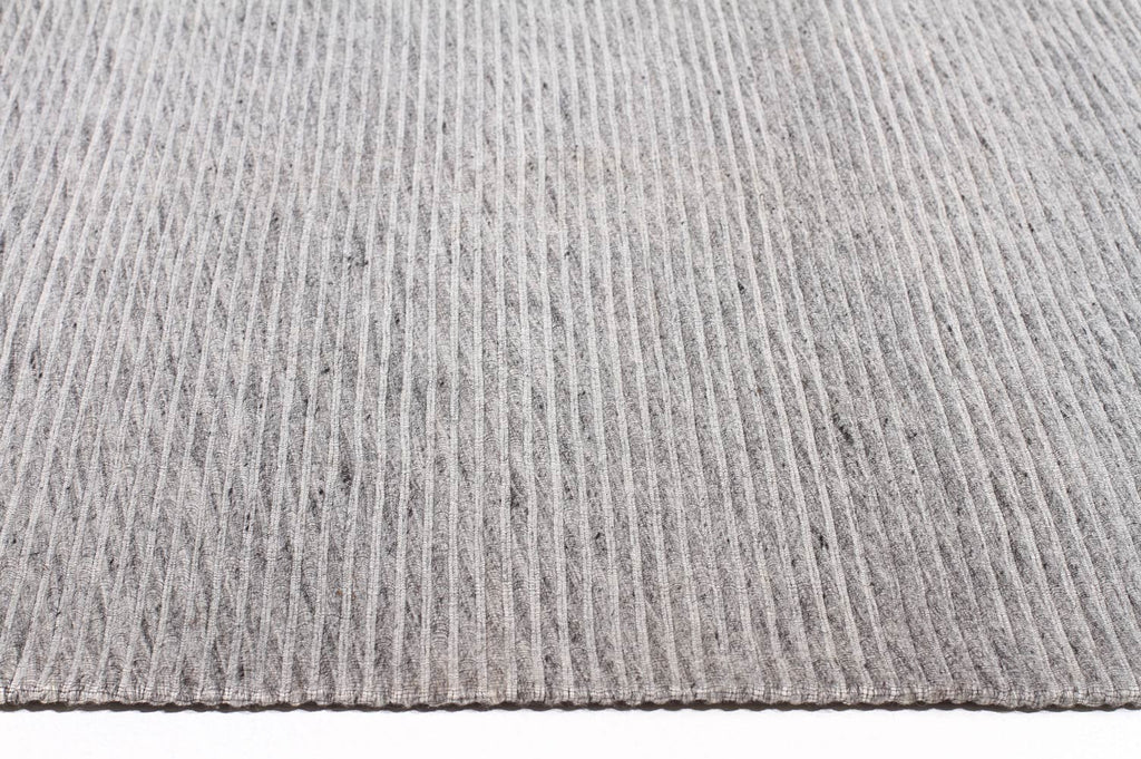 Akello - Grey Cubism Wool Rug - Razzino Furniture