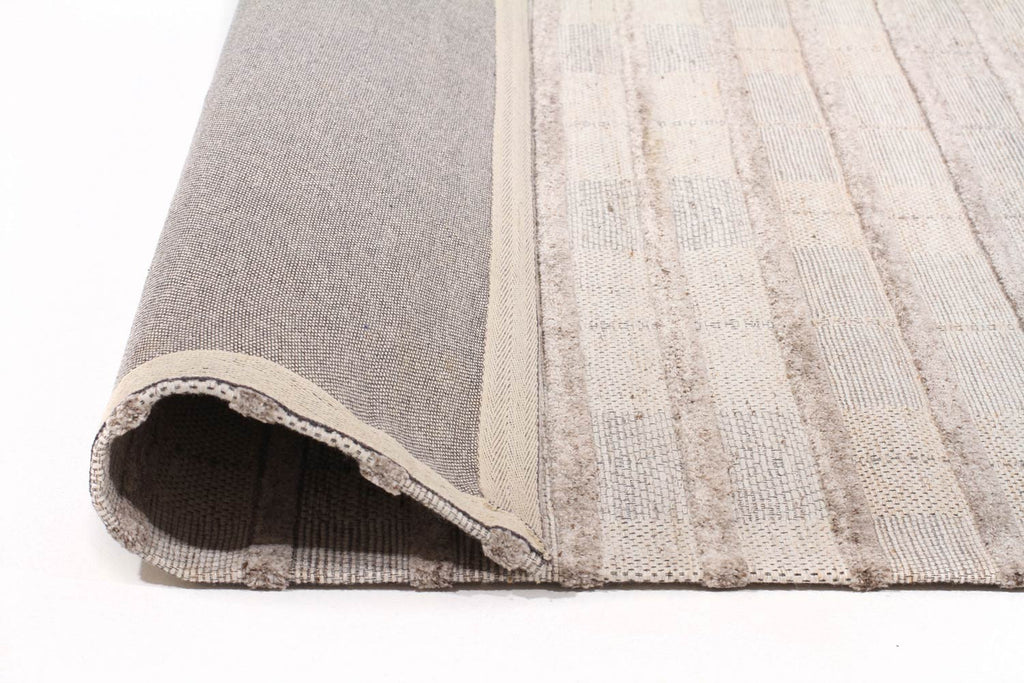 Akello - Natural Ribbed Wool Rug - Razzino Furniture