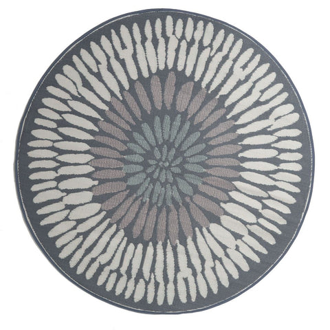 Deluxe Outdoor Rug - Ikat Navy