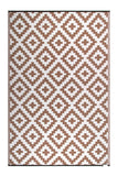 Eco Outdoor Rug - AZTEC Beige & White - Razzino Furniture