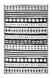 Eco Outdoor Rug - Canyon Black & White