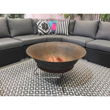90cm Cast Iron Fire Pit Bowl with Stand - Razzino Furniture