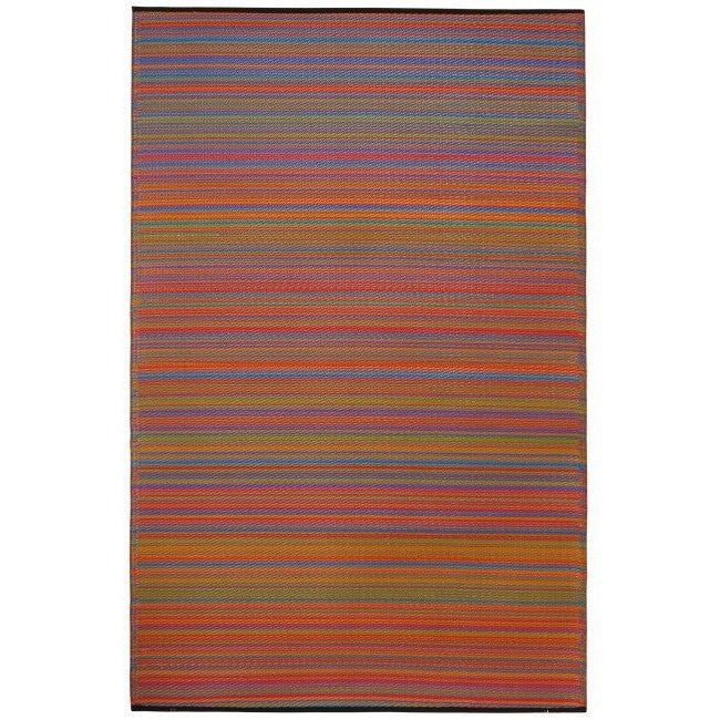 Eco Outdoor Rug - Multicolour Stripe - Razzino Furniture