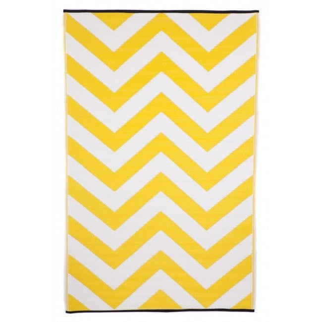 Eco Outdoor Rug - Chevron - Lemon - Razzino Furniture
