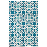 Eco Outdoor Rug - Marrakesh Aqua - Razzino Furniture