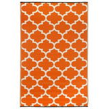 Eco Outdoor Rug - Quatrefoil - Orange Citrus - Razzino Furniture