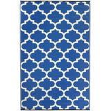 Eco Outdoor Rug - Quatrefoil - Bold Blue - Razzino Furniture