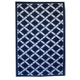 Eco Outdoor Rug - Lattice - Royal Blue - Razzino Furniture