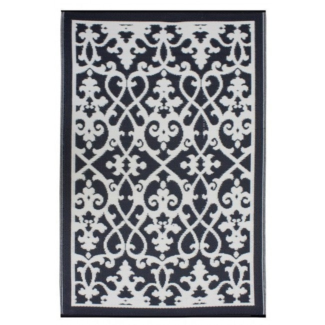 Eco Outdoor Rug - Venice Black - Razzino Furniture