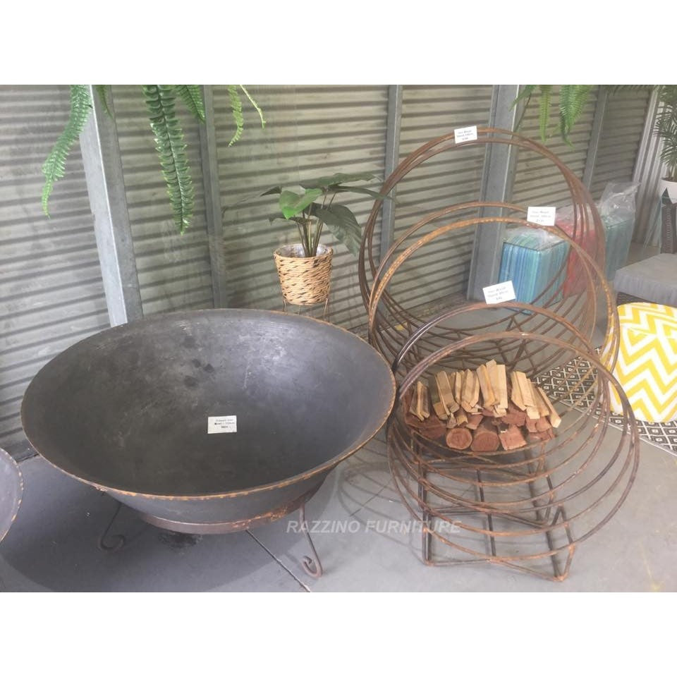 120cm Cast Iron Fire Pit Bowl with Stand - Razzino Furniture