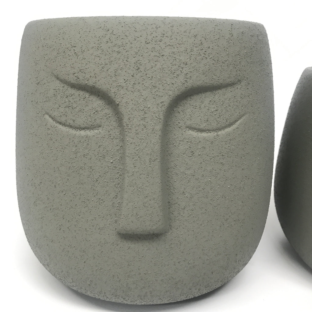Warrior Face Pot - Sandy Sage (Small or Medium)