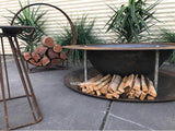 Industrial Double Rim Cast Iron Fire Pit Bowl 90cm - 120cm - Razzino Furniture