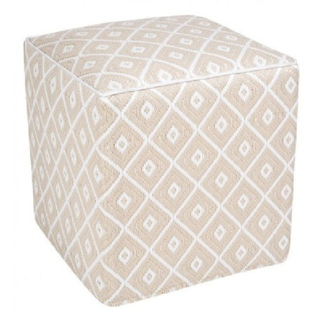 Outdoor Ottoman - Beige Diamond - Razzino Furniture