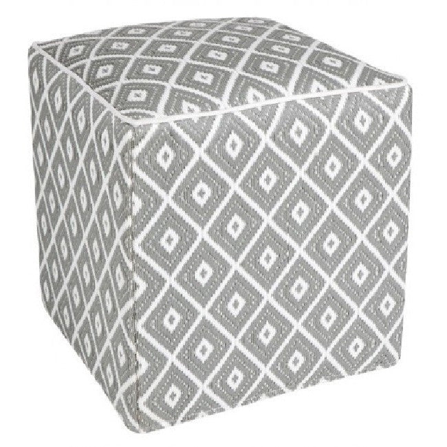 Outdoor Ottoman - Grey Diamond - Razzino Furniture