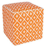 Outdoor Ottoman - Orange Diamond - Razzino Furniture