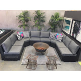 8pc XL AMALFI Outdoor Multi Way U Modular Lounge - Razzino Furniture
