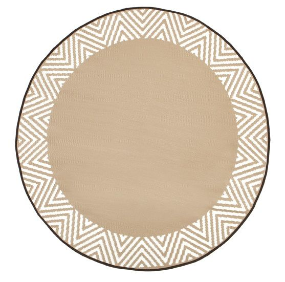 Eco Circle Outdoor Rug - Olympia Beige - Razzino Furniture