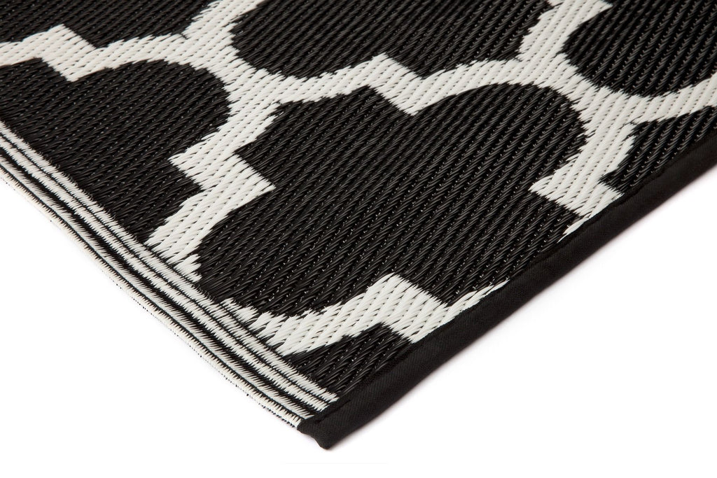 Eco Outdoor Rug - Tangier Black And White