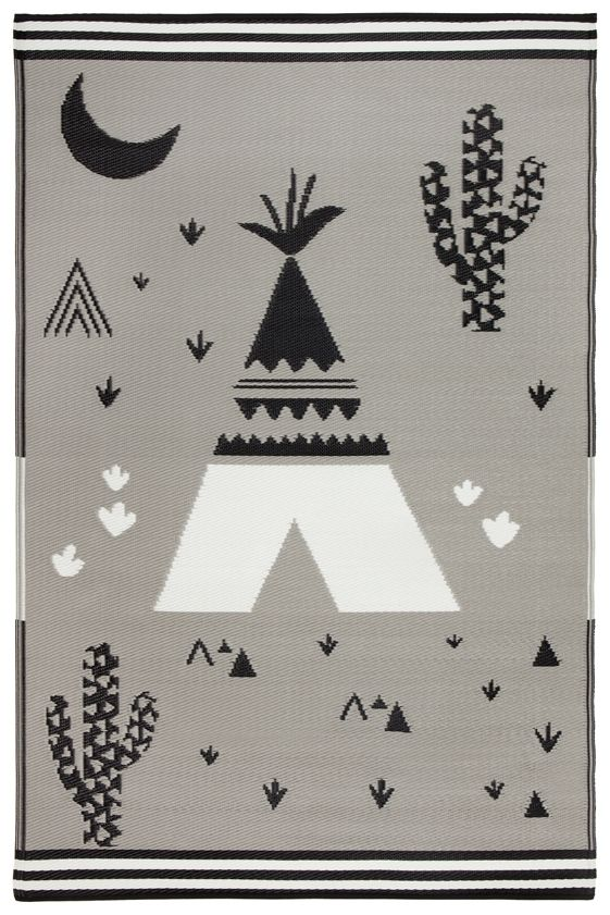 Eco Indoor / Outdoor KIDS Rug - Teepee - Razzino Furniture