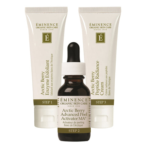 Eminence Arctic Berry Peel & Peptide Illuminating System - 3 pieces - ibeautysource