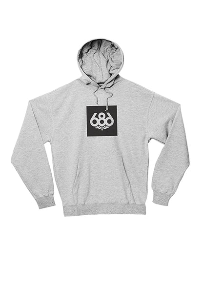 Knockout Print Hood Fleece - Heather Grey