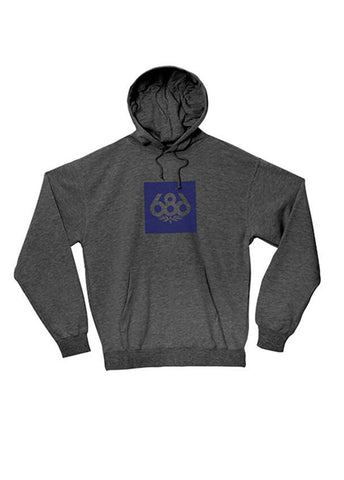 Knockout Print Hood Fleece - Charcoal
