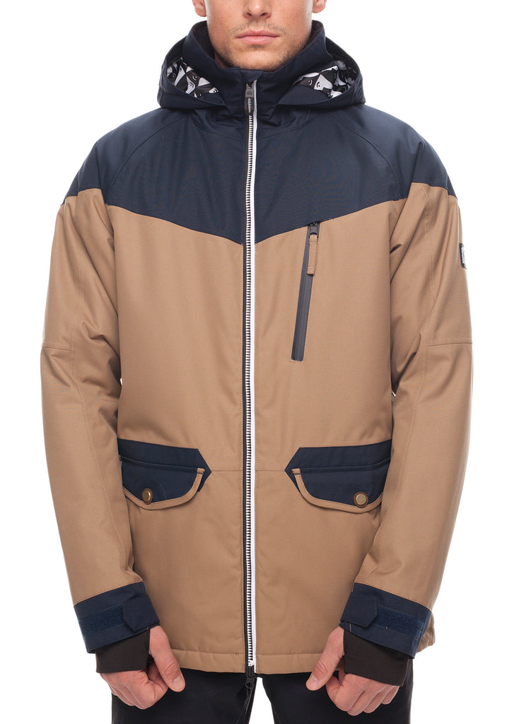 Piano Insulated Jacket - Khaki Color Block