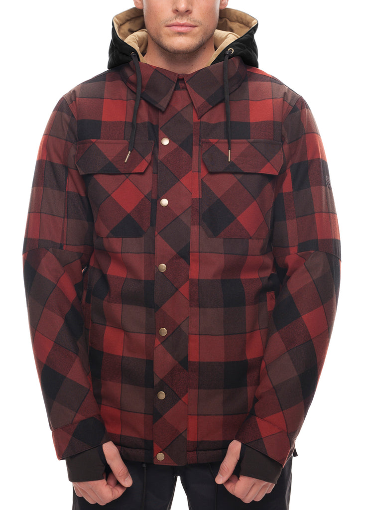 Woodland Insulated Jacket - Rusty Red Plaid