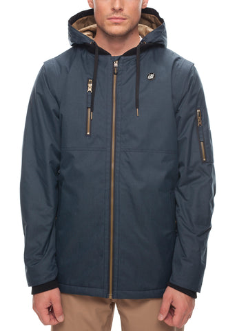 Riot Insulated Jacket - Dark Denim Melange