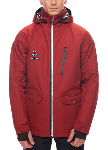 Piano Insulated Jacket - Rusty Red Sublimation