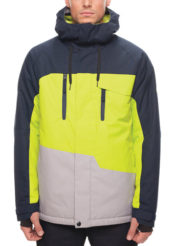 Geo Insulated Jacket - Navy Color Block